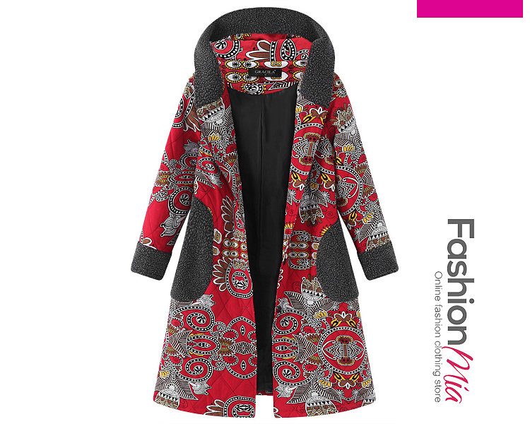 gender:women, hooded:yes, thickness:regular, brand_name:fashionmia, outerwear_type:coat, style:elegant,fashion,lady style, material:cotton, collar&neckline:hooded, sleeve:long sleeve, embellishment:single breasted, pattern_type:abstract print, occasion:basic,daily,date, season:autumn,winter, package_included:top*1, lengthshouldersleeve lengthbust