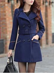 Lapel-Double-Breasted-Pocket-Belt-Woolen-Coat