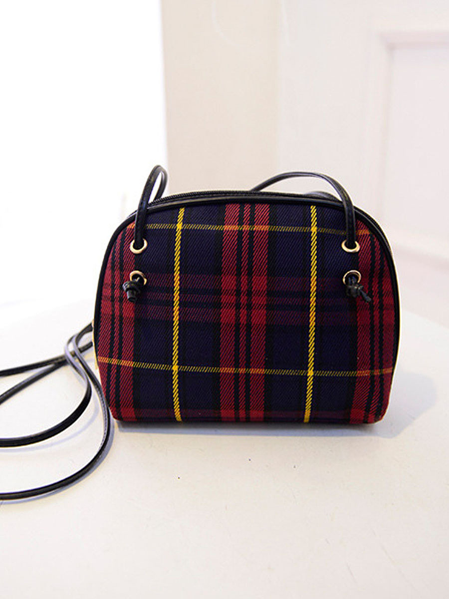 Classic Plaid Crossbody Bag