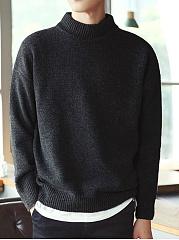 Mene28099S-Solid-High-Neck-Sweater