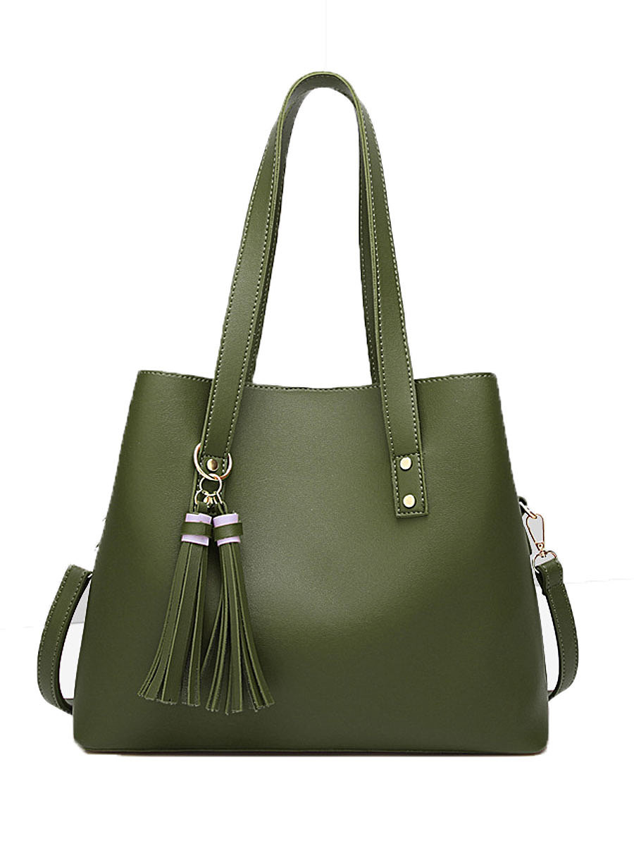 New Style Green Simple Shoulder Bags For Women
