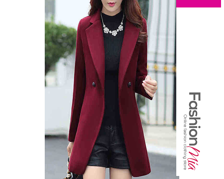 gender:women, hooded:no, thickness:regular, brand_name:fashionmia, outerwear_type:coat, style:elegant,fashion,japan & korear, material:acrylic, collar&neckline:notch lapel, sleeve:long sleeve, more_details:decorative button, pattern_type:plain, how_to_wash:dry cleanable, supplementary_matters:all dimensions are measured manually with a deviation of 2 to 4cm., occasion:date,nightout,office, season:autumn,winter, package_included:top*1, lengthshouldersleeve lengthbustwaist