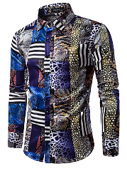 Trendy-Animal-Printed-Striped-Men-Shirts