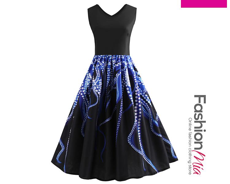 V-Neck  Printed Dresses