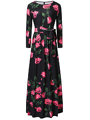 Fabulous-Floral-Printed-Long-Sleeve-Round-Neck-Maxi-Dress