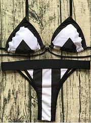 BlackWhite-Stripe-Sexy-Beach-Swimsuit