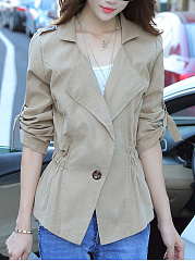 Slim Thin Large Lapel Jacket