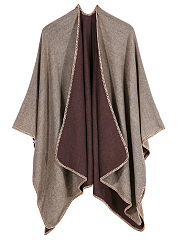 Collarless  Plain Cape