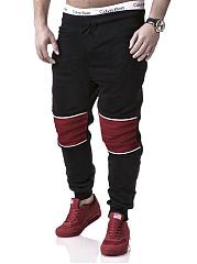 Mens-Casual-Sport-Color-Block-Jogger-Pants