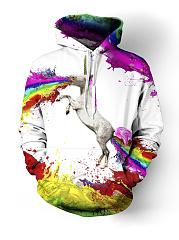 Unicorn-Kangaroo-Pocket-Graffiti-Hoodie