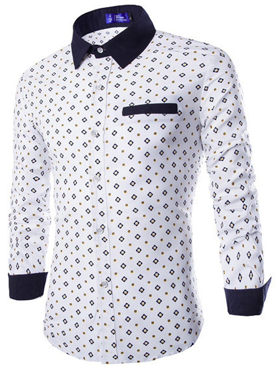 Attractive Printed Men Turn Down Collar Shirts