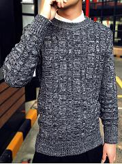 Crew-Neck-Embossed-Mene28099S-Sweater