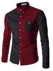 Color-Block-Long-Sleeve-Men-Shirts
