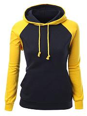 Kangaroo-Pocket-Color-Block-Raglan-Sleeve-Hoodie