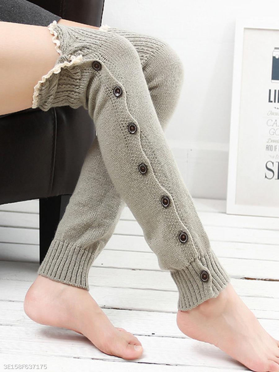 Knitting Boots Long Stocking Long Leg Protective Socks Hosiey