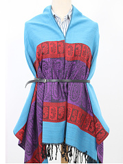 New Cashmere Scarf Patchwork Shawls Gradient Scarves Thickening Warm Long  Scarf