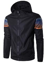Hooded-Slit-Pocket-Striped-Men-Jackets