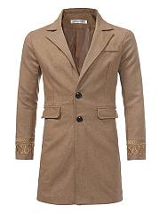 Lapel-Embroidery-Plain-Flap-Pocket-Men-Woolen-Coat