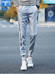 Letters-Striped-Slim-Leg-Mens-Casual-Pants