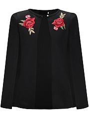 Single-Button-Embroidery-Blazer-Cape