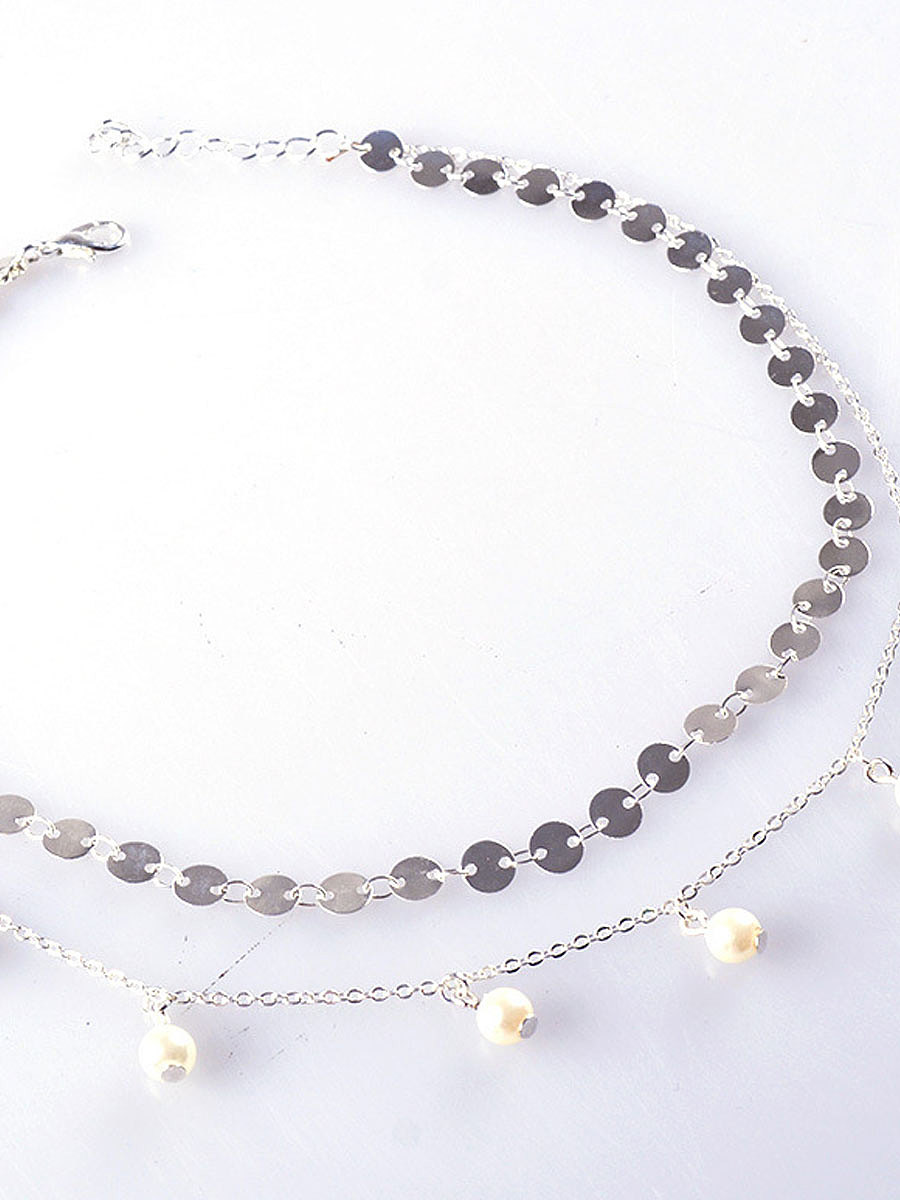 Two Pieces Metal Women Necklaces