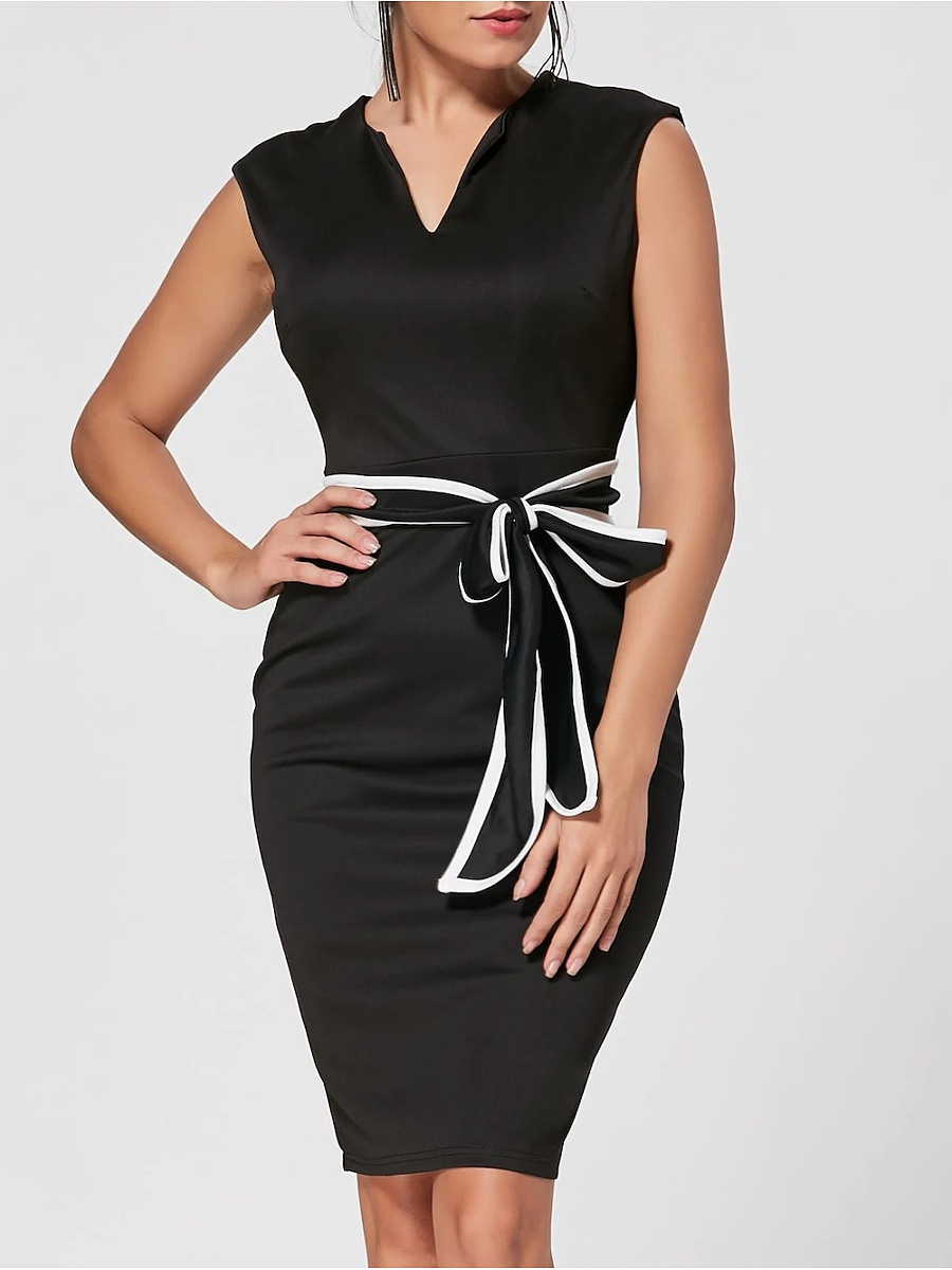 Sweet Heart  Plain Bodycon Dress