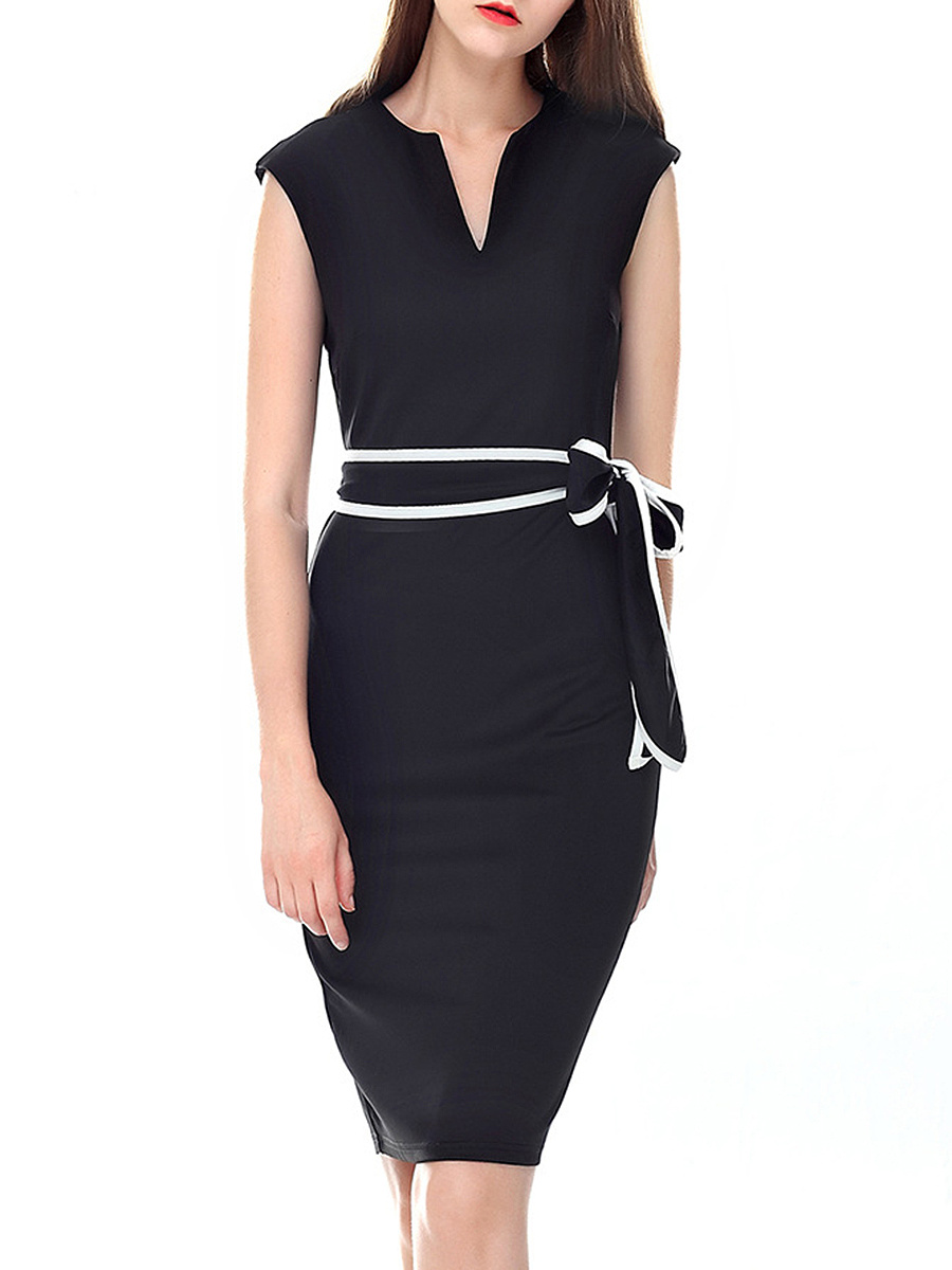 Sweet Heart  Plain Bodycon Dress