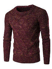 Round Neck Multi-Color Men'S Sweater