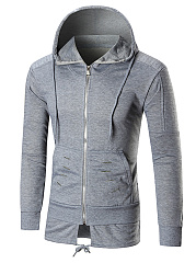 Hooded-Plain-Ripped-Patch-Pocket-Men-Coat