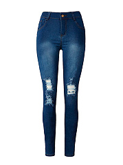 Patch-Pocket-Ripped-Light-Wash-Slim-Leg-Mid-Rise-Jean