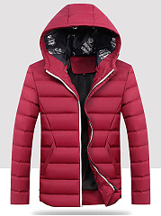 Men-Solid-Hooded-Pocket-Quilted-Padded-Coat