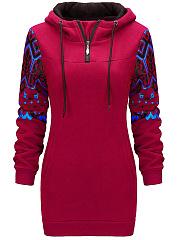 Fleece-Lined-Pocket-Printed-Zips-Hoodie