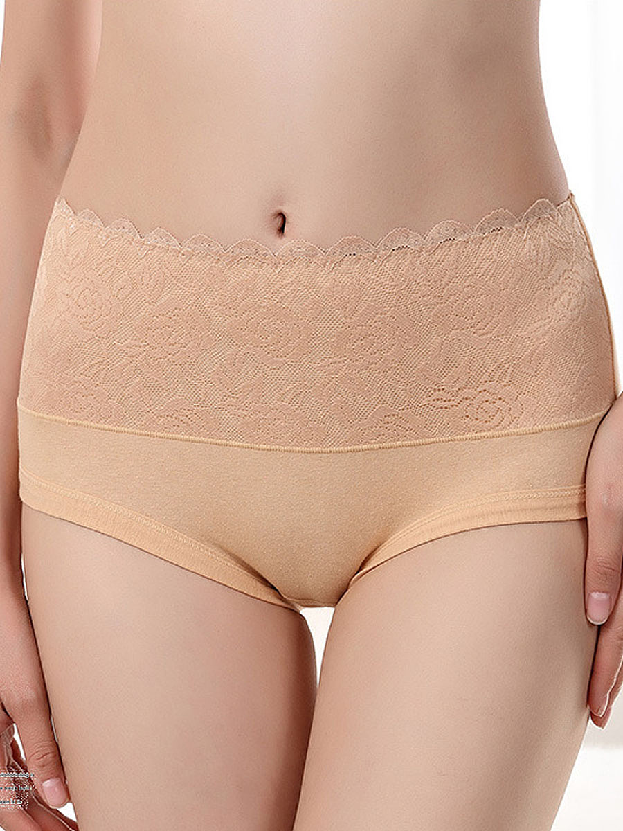 new sexy lace-trim body tight fitness panties - fashionmia