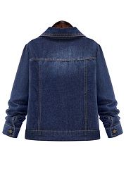 Veste Denim Flap Pocket Single Breasted Lavage à La Lumière