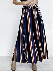 High-Slit-Belt-Vertical-Striped-Wide-Leg-Casual-Pants