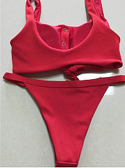 Plain Low-Rise Bikini For Women