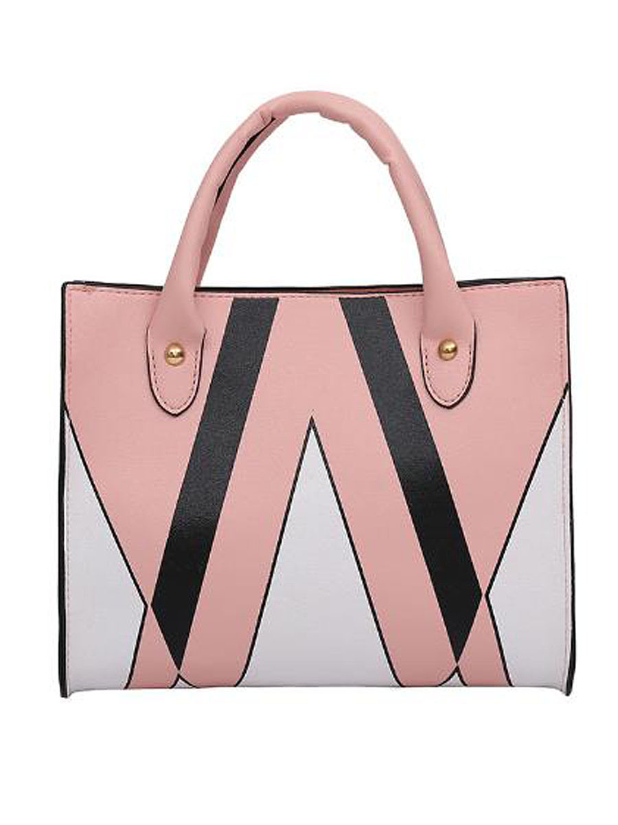 New Simple Triangle Print  PU Hand Bag