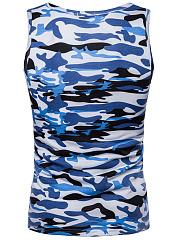 Camouflage  Sleeveless Vests