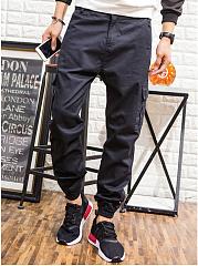 Mens-Casual-Plain-Flap-Pocket-Cargo-Pants