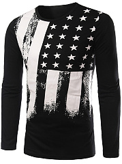 Round-Neck-National-Flag-Printed-T-Shirt