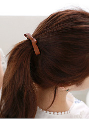 Leather Bowknot Elastic Hair Accessories