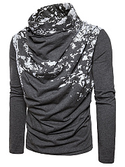 Designed-Cowl-Neck-Men-Abstract-Print-T-Shirt