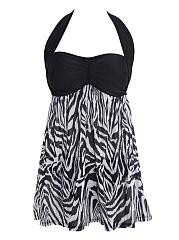 Halter-Zebra-Printed-Swimwear
