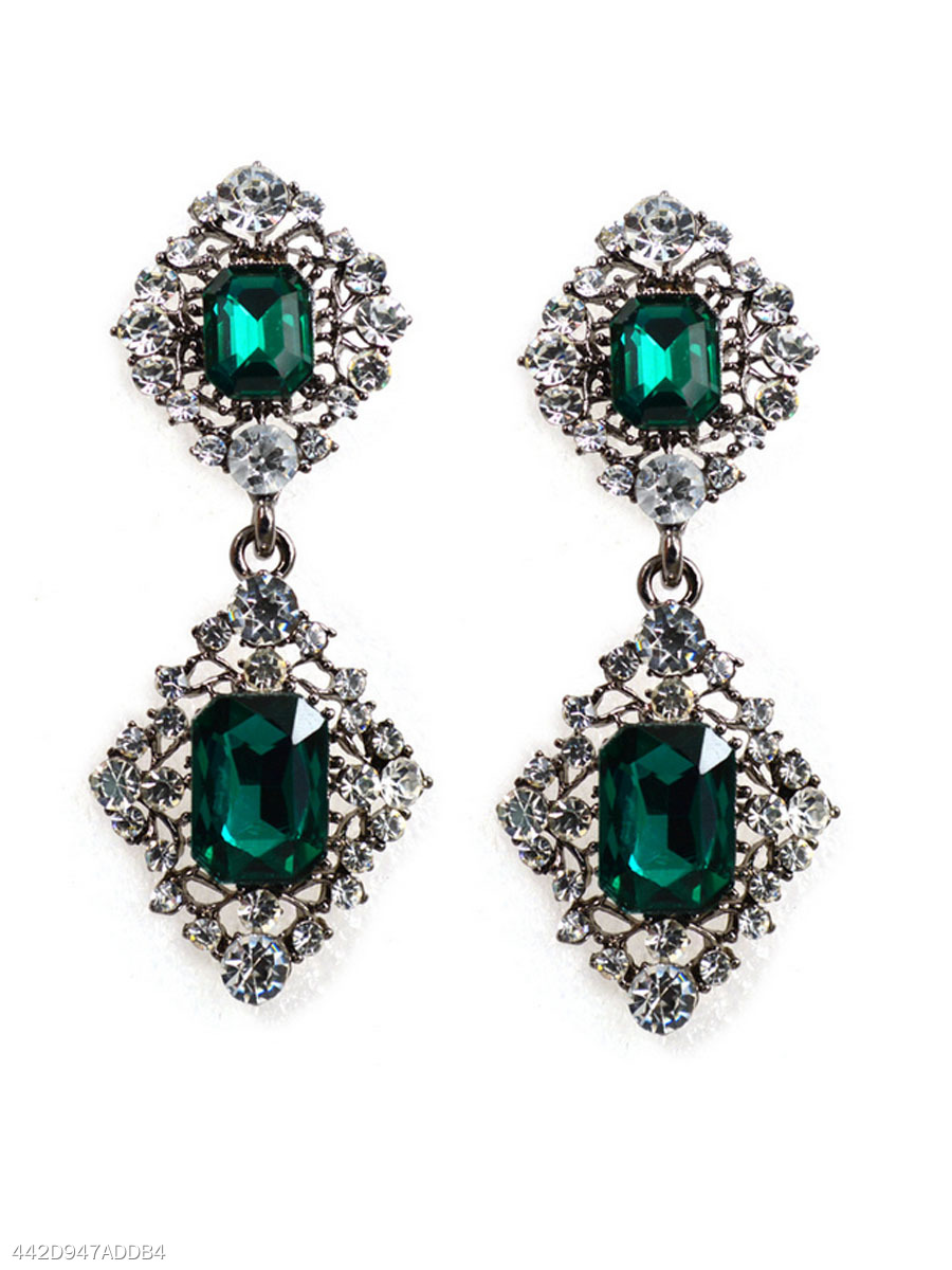 Graceful Imitated Crystal Earrings
