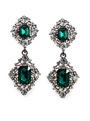 Graceful Faux Crystal Earring