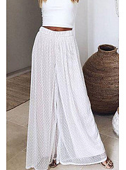 Wide Leg Plain Pants