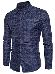 Fitted-Men-Printed-Turn-Down-Collar-Shirts