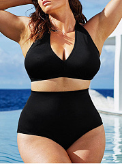 Plain Plus Size Swimwear
