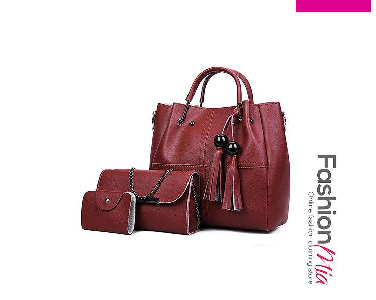 Decrotive Tassel Plain Women Shoulder Bags