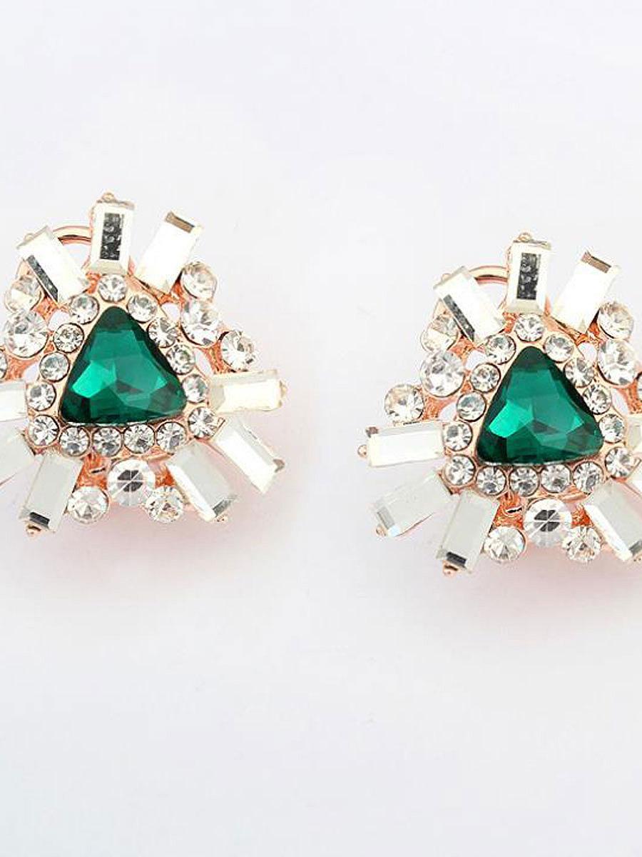 Faux Crystal Earrings For Women